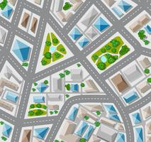 Plan bovenaanzicht voor de grote stad met straat vector
