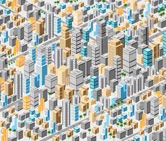Achtergrond van isometrische stad vector