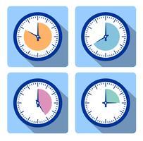 Stel de klok in met de timer vector