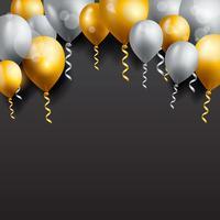 verjaardag achtergrond, verjaardag ballon behang