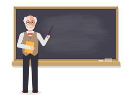 Senior leraar lesgeven in de klas. vector