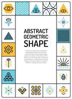 Abstracte geometrische kaart vector
