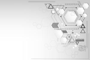 Vectorachtergrond in het concept technologie.