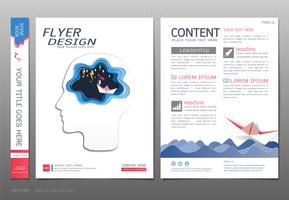 Dekt de vector van het het ontwerpmalplaatje van het boek, Opstarten van bedrijvenconcept.