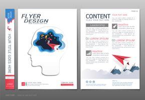Dekt ontwerpsjabloon, zakelijk leiderschap en succes concept.