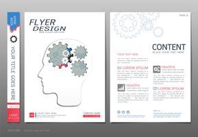 Dekt boekontwerp sjabloon vector, Business engineering concepten. vector