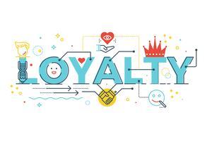 Loyaliteit woord belettering vector