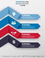 Infographic zakelijke tijdlijn proces grafieksjabloon. marketingpictogrammen kunnen worden gebruikt voor de werkstroomlay-out, rapportage,. Bedrijfsconcept met 4 opties, stappen of processen. Vector