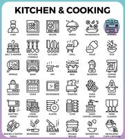 Keuken en koken pictogrammen