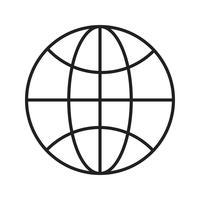 Browser lijn zwart pictogram vector