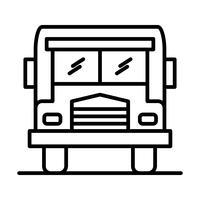 Buslijn zwart pictogram