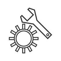 Lijn zwart pictogram instellen