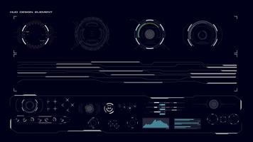HUD GUI Collectie element vector
