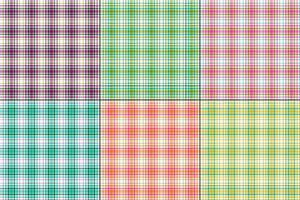 kleurrijke vector plaids met wit