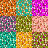 overlappende polka dot vector patronen