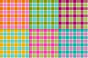 kleurrijke madras vector plaids