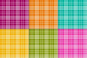 eenvoudige kleurrijke vector plaids