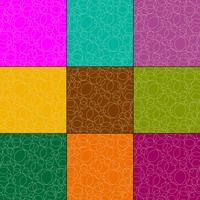 overlappende contouren cirkels vector patronen