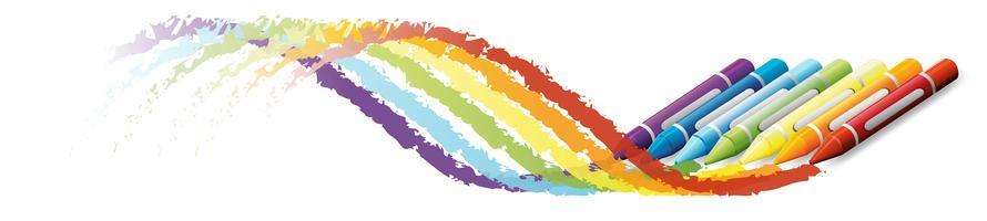 Kleurrijk kunstwerk met behulp van kleurpotloden