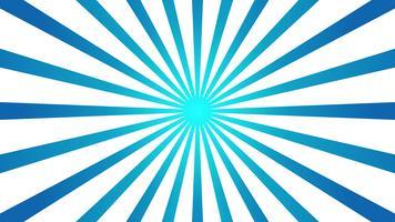 Abstracte blauwe achtergrond met Starburst-effect. en Sunburst-stralenelement. starburst vorm op wit. Radiale cirkelvormige geometrische vorm. vector
