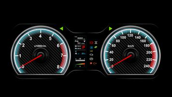 Auto dash board vector illustratie eps 10 008