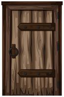 Oude houten deur op witte achtergrond