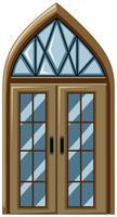 Ouderwetse stijl van glazen raam