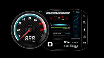 Auto dash board vector illustratie eps 10 006
