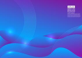 Kleurrijke vloeibare en geometrische abstracte achtergrond. Vloeibare gradiënt vormt samenstelling futuristisch ontwerp