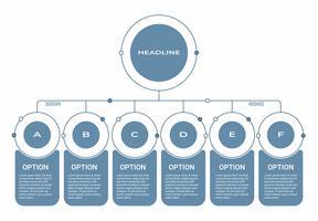 Zakelijke Infographic. Diagram met 8 stappen, opties of processen. Infographicsmalplaatje voor presentatie. vector