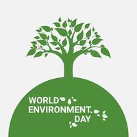 Groene bomen en blad van de lente of de zomer. Denk groen en ecologisch. Wereld Milieu Dag. vector