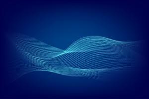 Blauw de golf abstract van de deeltjeslijn modern ontwerp met exemplaar ruimte, Vectorillustratie voor uw zaken en Webbannerontwerp. vector