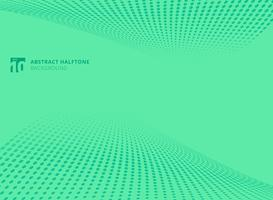 Abstracte patroon stippen groene kleur halftone perspectief achtergrond.