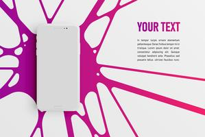 Kleurrijk smartphonemalplaatje voor reclame, vectorillustratie