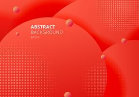 Abstracte 3D vloeibare vloeistof cirkels rode mosterdpastelkleuren kleuren mooie achtergrond met halftone textuur. vector
