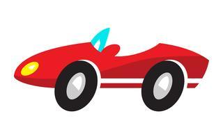 Gestileerde converteerbare sportwagen vector
