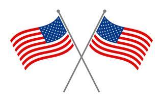 Amerikaanse vlaggen vector