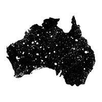Australië kaart aardrijkskunde vorm vector pictogram