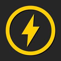 Elektrische bliksemschicht vector