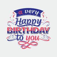 Gelukkige verjaardag belettering teken typografie
