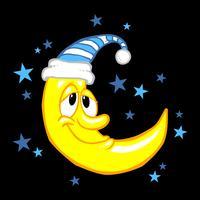 Maan glimlachend cartoon vector illustratie