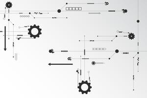 Vector achtergrondtechnologie in het concept circuit.