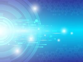 Grote hoeveelheden gegevens overbrengen via digitale systemen. vector