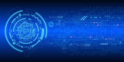 Vector achtergrondtechnologie in het concept digitaal.