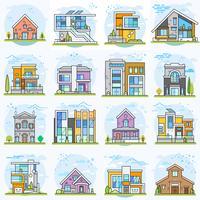 Houses. vector