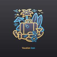 Vakantie pictogram