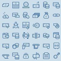 Zakelijke en financiële pictogrammen. vector