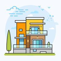 Vectorillustratie van modern huis.