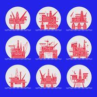 Olieplatform pictogrammen instellen.
