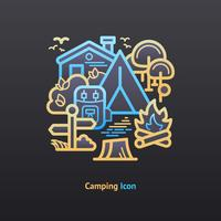 Camping pictogram vector